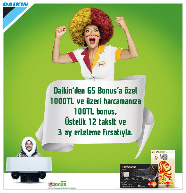 Daikin'den GS Bonus'a Özel Kampanya